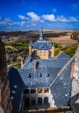 O Alcazar do castelo, Segovia, Espanha Imagem de Stock
