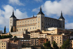 O Alcazar em Toledo, Spain Foto de Stock Royalty Free