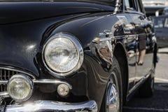 O alfa Romeo Super 1900 anos 1957, carro de polícia italiano do vintage, fecha-se acima imagem de stock