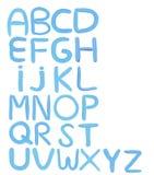 O alfabeto colorido á z isolou o fundo branco Fotos de Stock Royalty Free