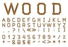 O alfabeto de madeira. Imagens de Stock Royalty Free