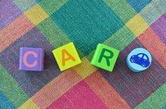 O alfabeto de madeira obstrui o brinquedo Fotografia de Stock Royalty Free