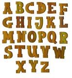 O alfabeto dos desenhos animados - para as crianças Foto de Stock