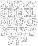 O alfabeto dos desenhos animados - para as crianças Imagens de Stock