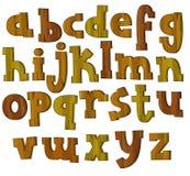 O alfabeto dos desenhos animados - para as crianças Fotografia de Stock
