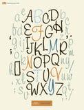 O alfabeto escrito à mão rotula o vetor ABC para seu projeto Imagens de Stock Royalty Free