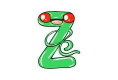 O alfabeto inglês com expressão bonito dos desenhos animados ilustração stock
