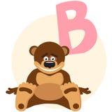 O alfabeto inglês em um tema dos animais ilustração royalty free