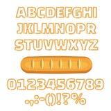 O alfabeto longo do naco numera a ilustração do vetor ilustração do vetor