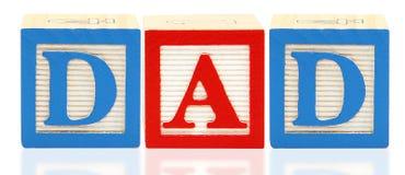 O alfabeto obstrui o PAIZINHO ilustração stock