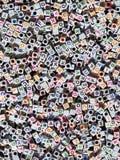 O alfabeto perla o fundo Fotografia de Stock