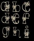 O alfabeto rotula a - i ilustração do vetor
