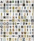 O alfabeto rotula o estilo do compartimento & do jornal ilustração royalty free