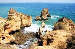 O Algarve bonito, Portugal 2016 Imagens de Stock Royalty Free