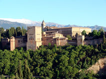 O Alhambra em Granada Foto de Stock Royalty Free