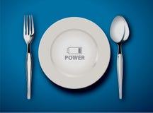O alimento é poder Imagens de Stock