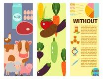 O alimento da natureza da ilustração do vetor dos cartões da exploração agrícola que colhe o crescimento da agricultura da grão c ilustração stock