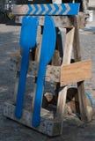 O alimento da rua assina dentro aarhus em Dinamarca Foto de Stock Royalty Free