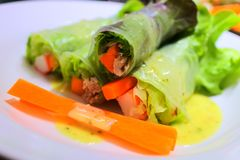 O alimento limpo com salada Imagens de Stock Royalty Free
