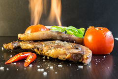 O alimento pelo bife do cordeiro, este alimento cozinhou com gastronomia do Nort Imagens de Stock