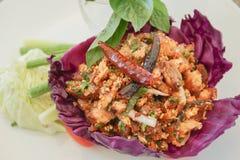O alimento tailandês é laboratório do nome Imagem de Stock