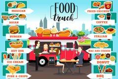 O alimento transporta Infographics Imagens de Stock Royalty Free