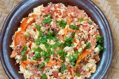 O alimento vietnamiano, tomate faz saltar o ovo imagens de stock