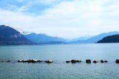 O Alpes Imagens de Stock