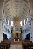 O altar alto dentro da igreja do ` s de St Michael, Munich, Baviera imagem de stock