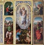 O altar da ressurreição de Jesus na igreja Franciscan em Dubrovnik, Croácia fotos de stock royalty free
