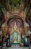 O altar de San Sebastian, Manila, Filipinas fotos de stock