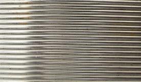 O alumínio alinha a textura Fotografia de Stock