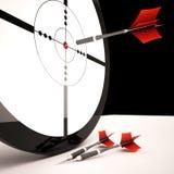 O alvo mostra o tiro de vencimento bem sucedido exato ilustração do vetor