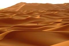 O alvorecer de um dia novo nas dunas do deserto do ERG em Marrocos Imagens de Stock