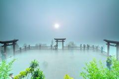 O alvorecer mágico no pagode Imagem de Stock Royalty Free