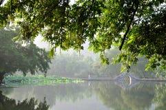 O amanhecer de Hongcun Fotos de Stock Royalty Free