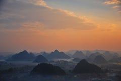 O amanhecer de um vallige fotografia de stock