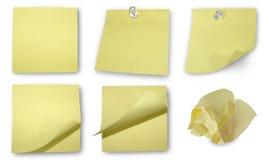 O amarelo anota a coleção Fotos de Stock Royalty Free