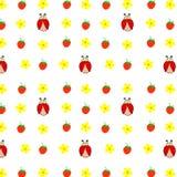 O amarelo botânico floral sem emenda do teste padrão por todo o lado no verde cor-de-rosa das flores das margaridas sae, cópia fê Imagem de Stock