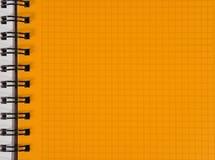 O amarelo esquadrou a folha do caderno imagem de stock