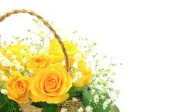 O amarelo levantou-se Fotografia de Stock Royalty Free