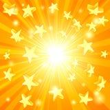 O amarelo Stars o fundo ilustração stock