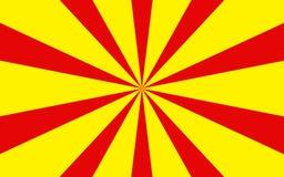 O amarelo vermelho irradia a imagem de fundo Foto de Stock Royalty Free