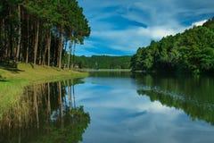 Grande lago reflexo Fotos de Stock
