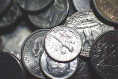O americano inventa o fundo fotografia de stock royalty free