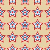 O americano stars o teste padrão sem emenda Fotos de Stock