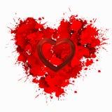 O amor é amor no vermelho Fotografia de Stock