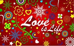 O amor é fundo da vida Ilustração do Vetor