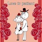 O amor é paciente ilustração stock