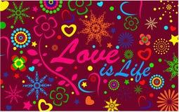 O amor é partido do fundo da vida Ilustração Stock